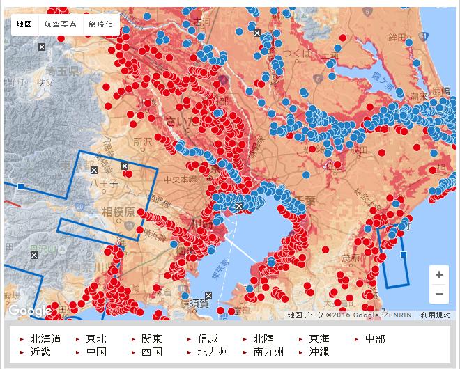 朝日新聞・液状化過去