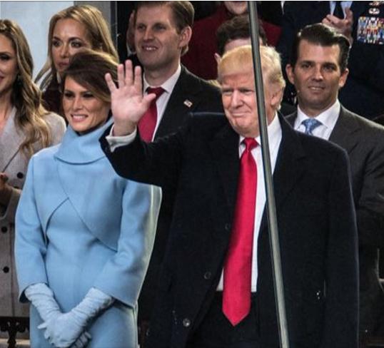 トランプ大統領とメラニア夫人