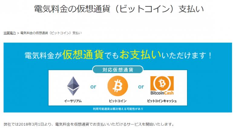 滋賀電力仮想通貨